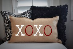 Check out this item in my Etsy shop https://www.etsy.com/listing/217652215/xoxo-pillow-cover-valentines-pillow