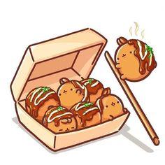 Pin by Katie Takanashi on Kakao Friends Food Kawaii, Chibi Kawaii, Kawaii Doodles, Cute Doodles, Kawaii Art, Kawaii Illustration, Japon Illustration, Cute Food Drawings, Cute Kawaii Drawings