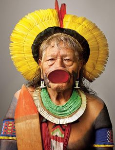 """The Amazon tribe has beaten back ranchers and gold miners and famously stopped a dam. Now its leaders must fight again or risk losing a way of life."""" ~ Chip Brown.  photography by Martin Schoeller - full story & gallery via National Geographic (January 2014)"""
