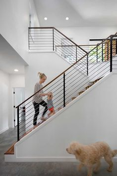 modern stair railing Staircase Contemporary with banister cable rail entry foyer. modern stair railing Staircase Contemporary with banister cable rail entry foyer minimal minimalist Cable Stair Railing, Modern Stair Railing, Stair Railing Design, Staircase Railings, Banisters, Stairways, Metal Railings, Staircase Ideas, Indoor Railing