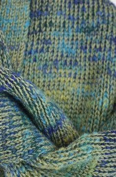 Original and unique green  blue slub rib knit wool and alpaca fringed scarf https://www.etsy.com/listing/189311975/original-and-unique-green-blue-slub-rib?ref=teams_post