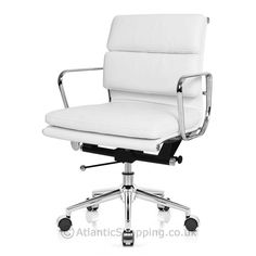 eames style 2 cushion office chair white eames style 2 cushion office