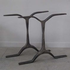 """Hand Forged Wrought Iron Double Table Base. HMeasurements for each individual table base piece; 29""""h x 30""""l x 2""""d"""