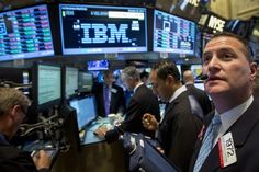 IBM slides despite reporting its first profit growth in almost 6 years (IBM)