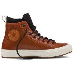 Chuck II Waterproof Mesh Backed Leather Boot - Converse ES ($140) ❤ liked on Polyvore featuring shoes, boots, water proof boots, leather boots, leather footwear, genuine leather boots and waterproof boots