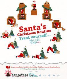 Santa's Christmas Yoga Routine, this is sooo cute! Santa's Christmas Yoga Routine, this is sooo cute! Merry Christmas, Christmas Cards, Xmas, Namaste, Childrens Yoga, Yoga Sequences, Yoga Poses, Yoga For Kids, Yoga Meditation