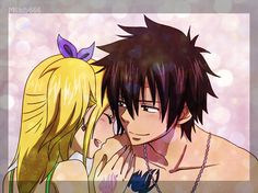 """""""Thanks, I feel better already, Gray"""".  Gray smiled, though it sounds strange, it feels a hero for her."""