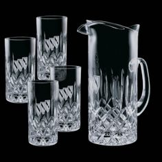 Promotional Products Ideas That Work: Denby Pitcher & 4 Hiballs. Get yours at www.luscangroup.com