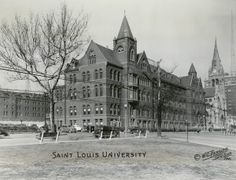 St. Louis University. (1940) Is someone on your gift list a graduate of Saint Louis University? Give them a historical print of their alma mater from the Missouri History Museum's photos & prints collection. Framed prints start at $29.95. Browse our collections search for more: http://collections.mohistory.org/search/