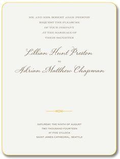 William Arthur Blog | Yellow-painted edges highlight this Imperial Trellis invitation