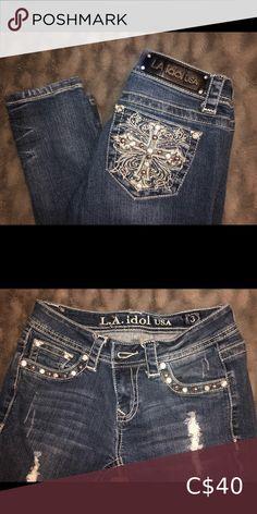 Check out this listing I just found on Poshmark: LA Idol Skinny Jeans- size 3. #shopmycloset #poshmark #shopping #style #pinitforlater #L.A. idol #Denim Plus Fashion, Fashion Tips, Fashion Trends, Jeans Size, Denim Shorts, Idol, Skinny Jeans, Check, Pants