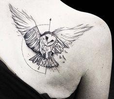 Owl tattoo by Kamil Mokot