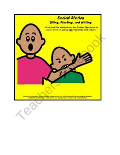 $5,50 -- Social Stories - Value Pack - Great Tool for Young Students on the Autism Spectrum from Special Needs Shop on TeachersNotebook.com (9 pages)  - Social Stories - Great Tool for teachers to use with young students on the Autism Spectrum - Great visuals for teaching appropriate behavior!  Biting; Pinching; Hitting; Working Quietly; Running Away; First Work, Then Play!