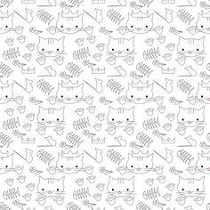 Free printable cat coloring paper - ausdruckbares Ausmalpapier - freebie | MeinLilaPark – DIY printables and downloads