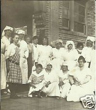 Vintage Old Photo Group of Red Cross Nurses in Uniforms 1917