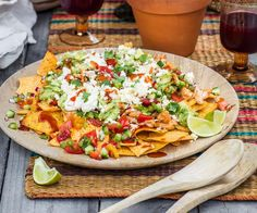 Nadia Lim shares her recipe for chilaquiles (pronounced 'cheela-kee-less') which are like fancy nachos without the melted cheese. This tasty dish makes a delicious starter, casual lunch or snack with beers. Spinach Pasta Bake, Ricotta Pasta, Sausage Recipes, Chicken Recipes, Chicken Meals, Beef Fillet, Chicken Nachos, Chicken With Olives, Baked Pork