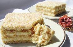 Kdo nemá rád dlouho stát v kuchyni, aby si připravil chutný dezert, vyzkoušejte tyto nepečené řezy Rafaello. Nejlepší jsou na druhý den, když sušenky změknou. No Bake Treats, No Bake Cookies, No Bake Cake, Czech Recipes, Cold Desserts, Sweet Cakes, Vanilla Cake, Sweet Recipes, Food Porn