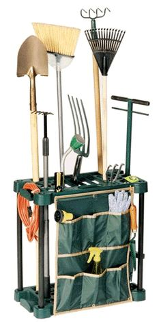 Garden Tool Rack   Check Out The Shoe Caddy That Was Added To A Standard  Rubbermaid