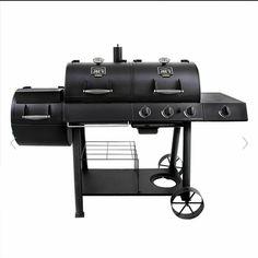 Oklahoma Joe's Longhorn Combo Charcoal/Gas Smoker and Grill 15202029  #CHARBROIL Gas Smoker, Propane Gas Grill, Gas Bbq, Best Offset Smoker, Oklahoma Joe Smoker, Gas Grill Reviews, Metal Storage Shelves, Grill Stand, Charcoal Smoker