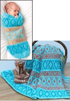 (4) Name: 'Crocheting : Native American Afghan and Baby Cocoon 8.95 craftsy