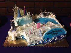 Frozen birthday cake characters came from the disney store cake made
