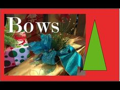 How to make a Bow - Step by step GIFT WRAPPING demonstration - YouTube