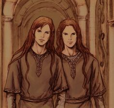 Ambarussa by ~amiroprotein on deviantART. I'm guessing this is Elladan and Elrohir, because they look so much alike...