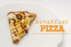 breakfast pizza :: wolfgang puck express copycat