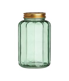 Green Glass Jar with Lid | H&M US