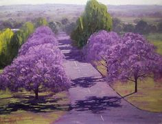 "Grafton Jacaranda Trees by artsaus.deviantart.com: I love the word ""Jacaranda,"" the way it rolls off your tongue."