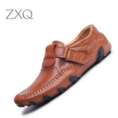 check price new design 2017 spring summer men flat shoes soft split leather male moccasin driving loafers #soft #shoes