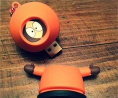 You bastard! Now you'll have to kill Kenny every time you want to get your data. This custom built South Park USB drive was crafted by installing a flash drive...