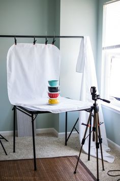 Setup for Photography - using different backgrounds for photographing objects. Tips on equipment and photography setups with natural light.
