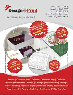 Design Print Soluções Gráficas.  Na Direção do Conceito Ideal. (11) 7803-3318