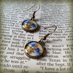Art Earrings, Drop Earrings, Small Earring, Bronze Earrings, Unique Resin Jewelry, Dangle Earrings, Gift for Her, Wearable Art, ARTBYSANDRAV by ARTBYSANDRAV on Etsy