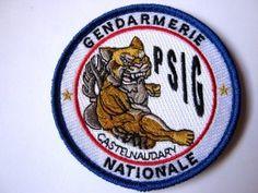 INSIGNE TISSUS PATCH GENDARMERIE NATIONALE LE PSIG DE CASTENAUDARY 11 SUR VELCROS