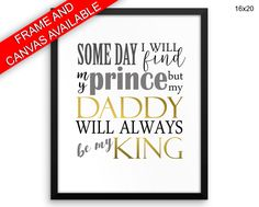 Daddy Printed  Poster Daddy Framed Daddy Father Art Daddy Father Print Daddy Canvas Daddy daddy gift print prince dads gift fathers day - Physical Product #wallartframed #wallartcanvas #canvas #framedprints