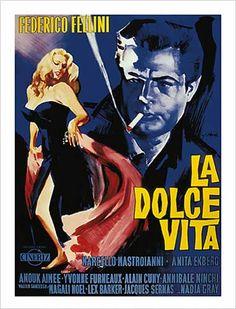 Frederico Fellini - La Dolce Vita Fine Art Print