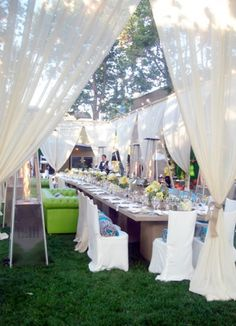 Outdoor Wedding Draping