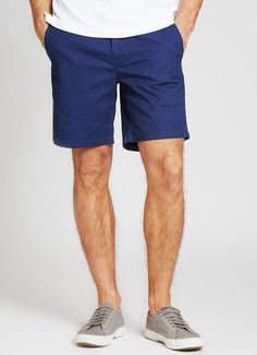 Bonobos Washed Chino Short - Navy - 7 in. the right length.