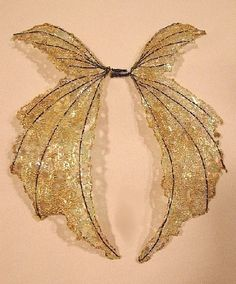 One of a Kind  Fairy Wings-Iridescent-On Golden Wings- Doll and Bear Wings by chloe6788 on Etsy https://www.etsy.com/listing/57937964/one-of-a-kind-fairy-wings-iridescent-on