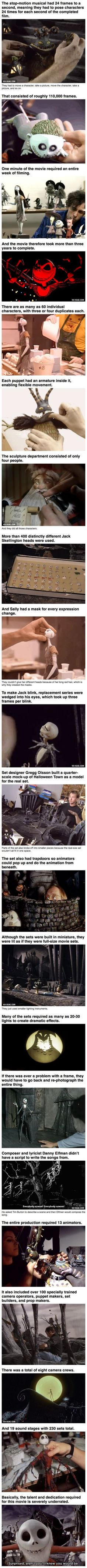 The Nightmare Before Christmas: Behind The Scenes… very cool. #christmasfacts