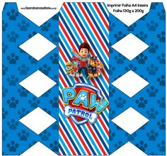 Caixa Bala Kit Patrulha Canina Easy Christmas Crafts, Simple Christmas, Paw Patrol Birthday Decorations, Paw Patrol Party, Mickey Mouse, Paper Crafts, Kids Rugs, Scrapbook, Shorts