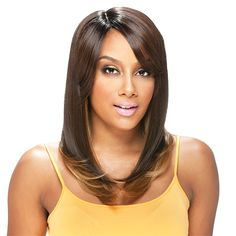 Model Model Synthetic Hair Deep Invisible Part Wig Latte