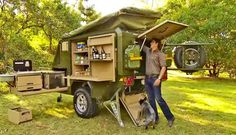 Conqueror Australia off Road Camper Trailer Well , I might be convinced to camp now. this is the most awesome camper I have ever seen ! Off Road Camping, Jeep Camping, Camping Survival, Family Camping, Trailer Off Road, Bug Out Trailer, Trailer Plans, Expedition Trailer, Overland Trailer