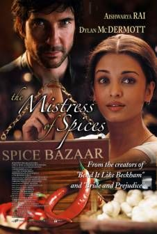 This was another romantic movie with a bit of 'magic' thrown in...(my favorite combo).  Set design was a feast for the senses even though plot is predictable and moves slow.  Starred Aishwarya Rai who was lovely, though I didn't care much for Dylan McDermott.  The book is really good too....with a story sort of like 'Chocolate' and Garden Spells' with an 'Indian' vibe to it.