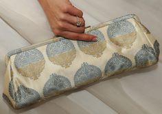 Madeline Weinrib Ivory Brocade - wedding clutch