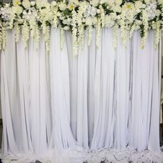 Create the perfect backdrop to your event with help from Sharebooth. We offer stunning flower walls at affordable prices. Contact us today. Wall Backdrops, Backdrop Decorations, Photo Booth Backdrop, Wedding Decorations, Photo Booths, Flower Backdrop, Flower Wall, White Chiffon, Wedding Engagement