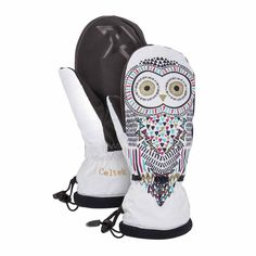 Snowboard-mitten-Celtek-gallery-owl-womens
