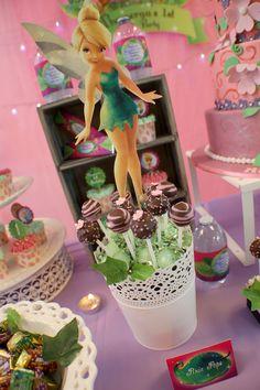 Tinkerbell Themed Birthday Party with Tons of really Cute Ideas via Karas's Party Ideas Kara Allen KarasPartyIdeas.com #Tinkerbell #Fairies ...